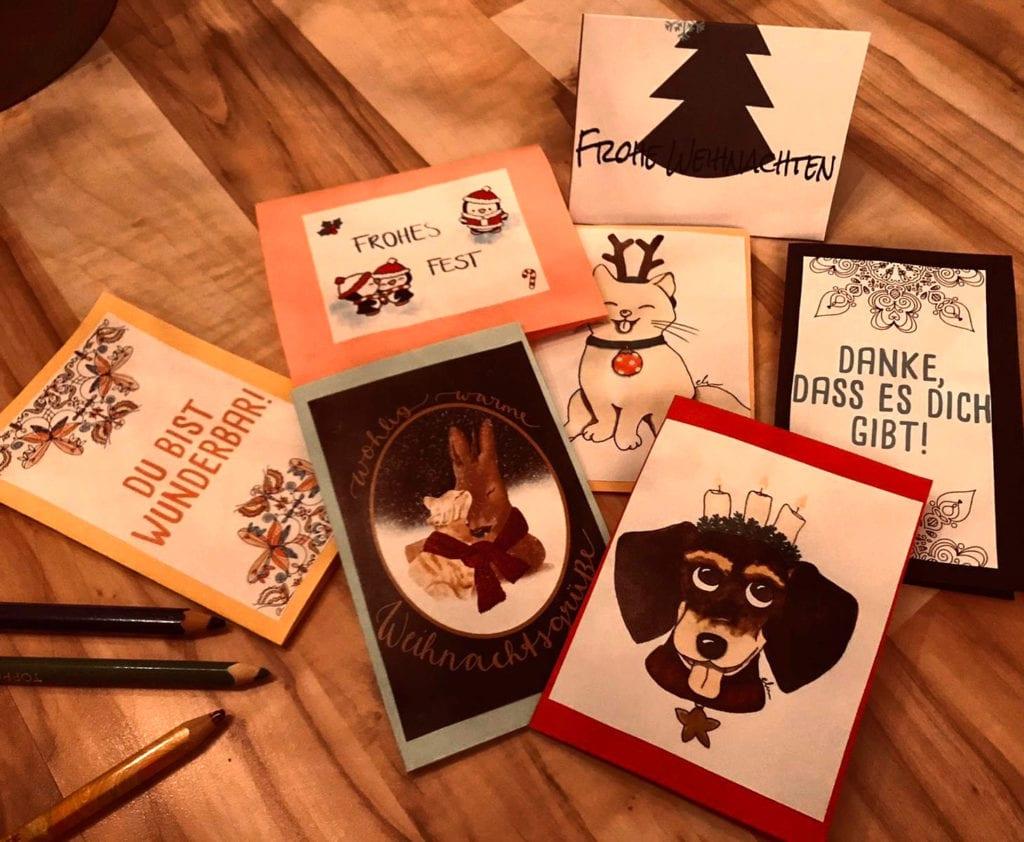 Weihnachtskarte Basteln Logopädie Hildebrandt